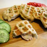 Photo of Waffles with cheese and ham