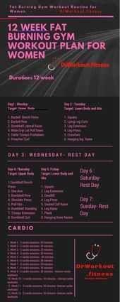 Workout Plan for Women #workout #women #fatburning #fitness ...  Trainingsplan für Frauen #trainiere...