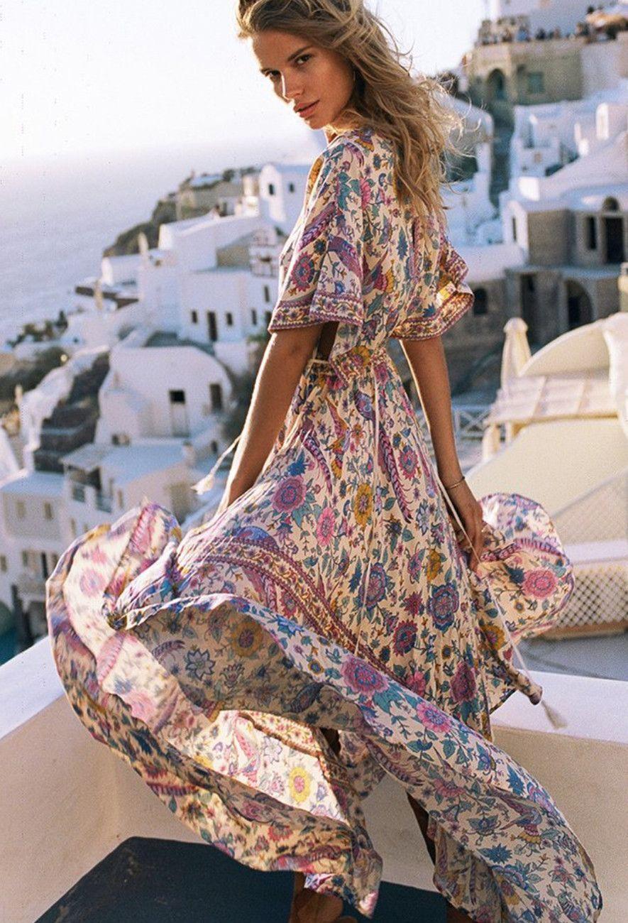 Long flowing maxi dresses