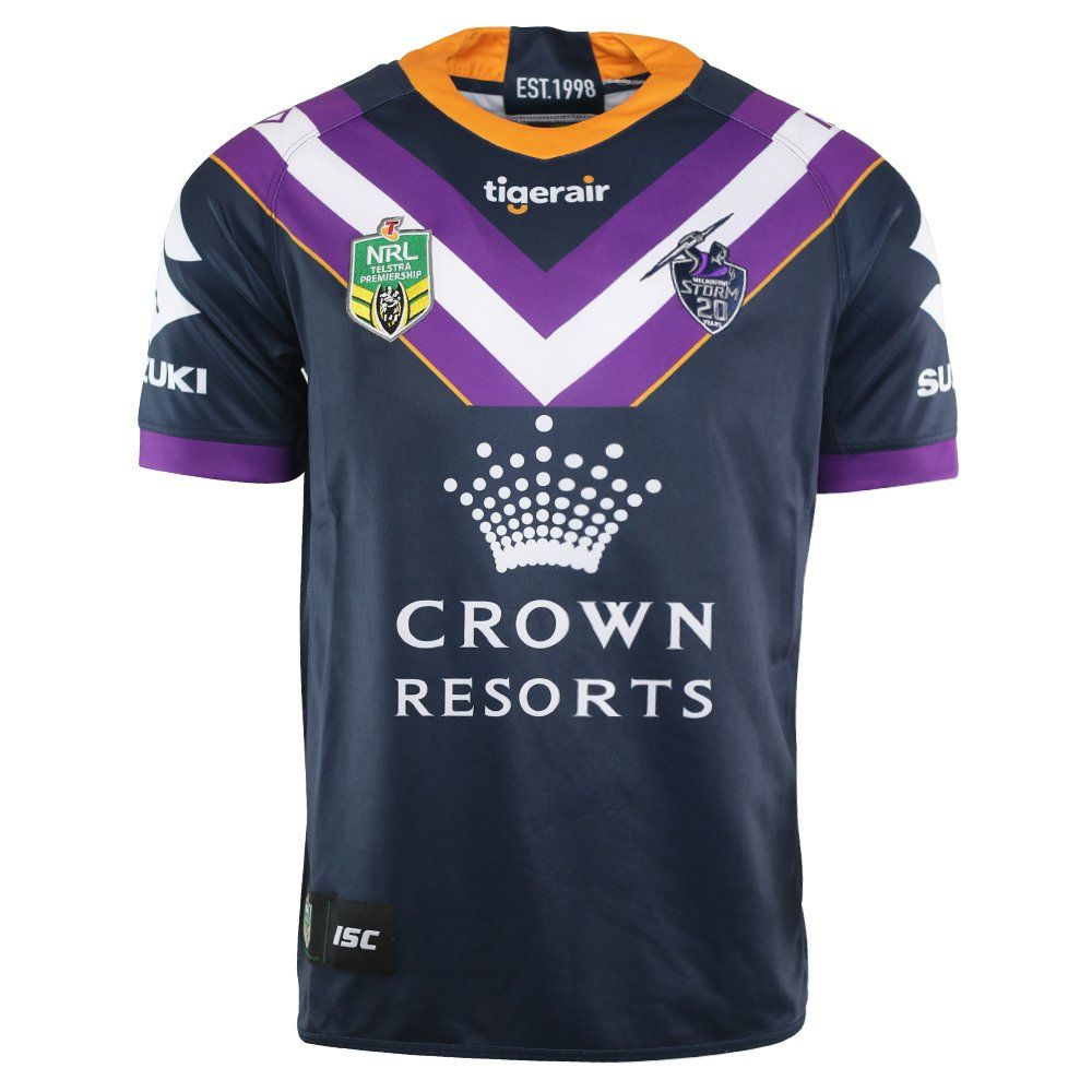 a16afb180 Fan+Shirt+Melbourne+Storm+2018+NRL+Home+Jersey+Adults,+Sizes+S-3XL ...