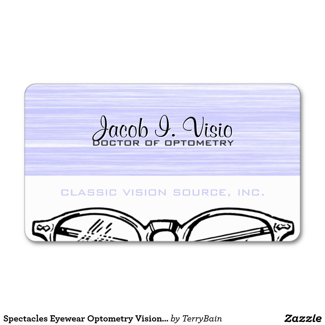 Spectacles Eyewear Optometry Vision Scratchy Business Card | Optometry