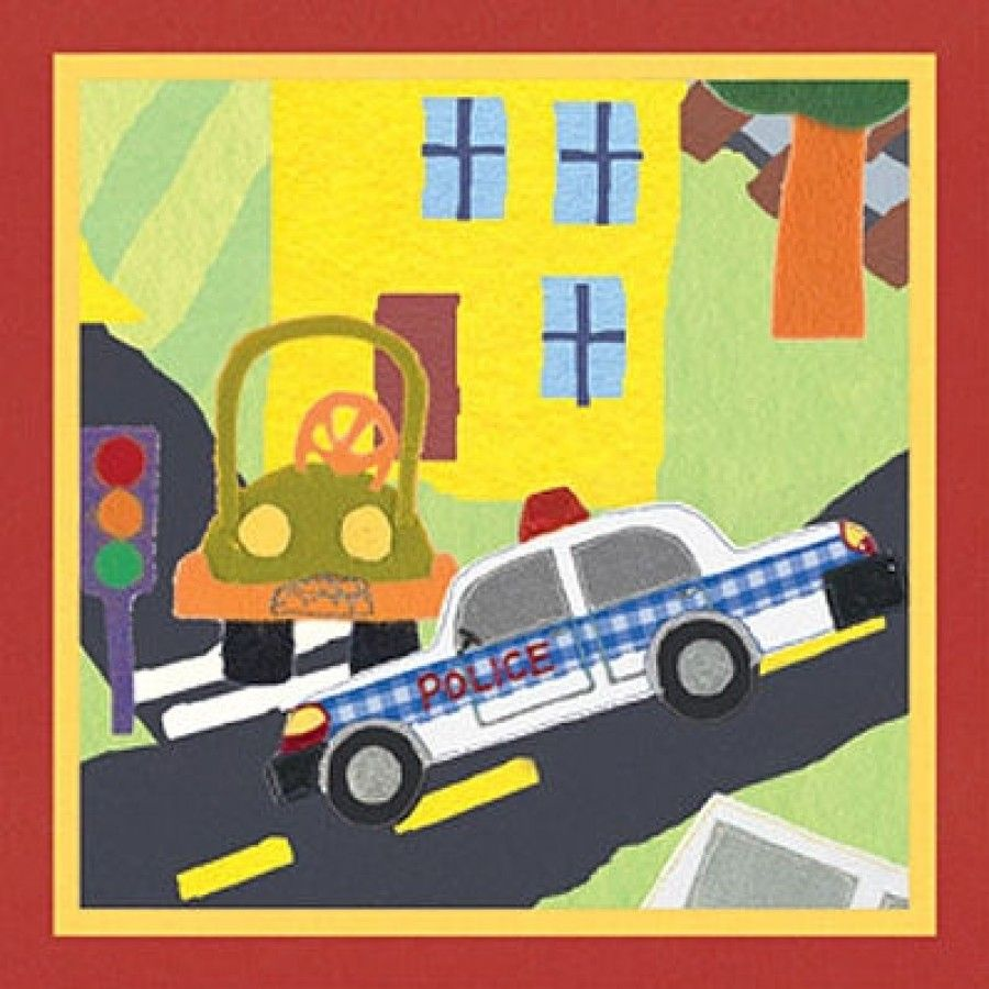 Art 4 Kids Rescue Police Car Wall Art - 21524 | Walls and Bedrooms