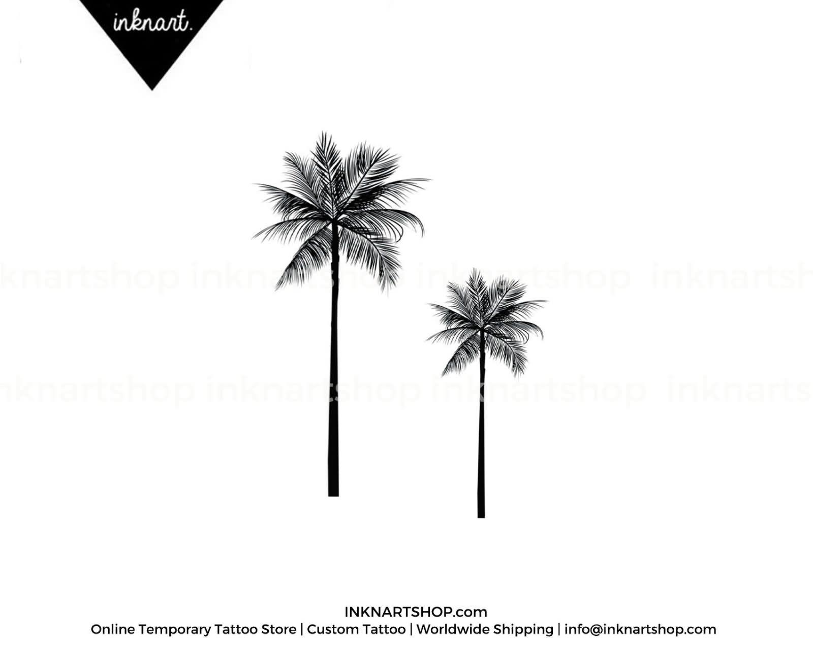 palm tree tattoo black and white - photo #15