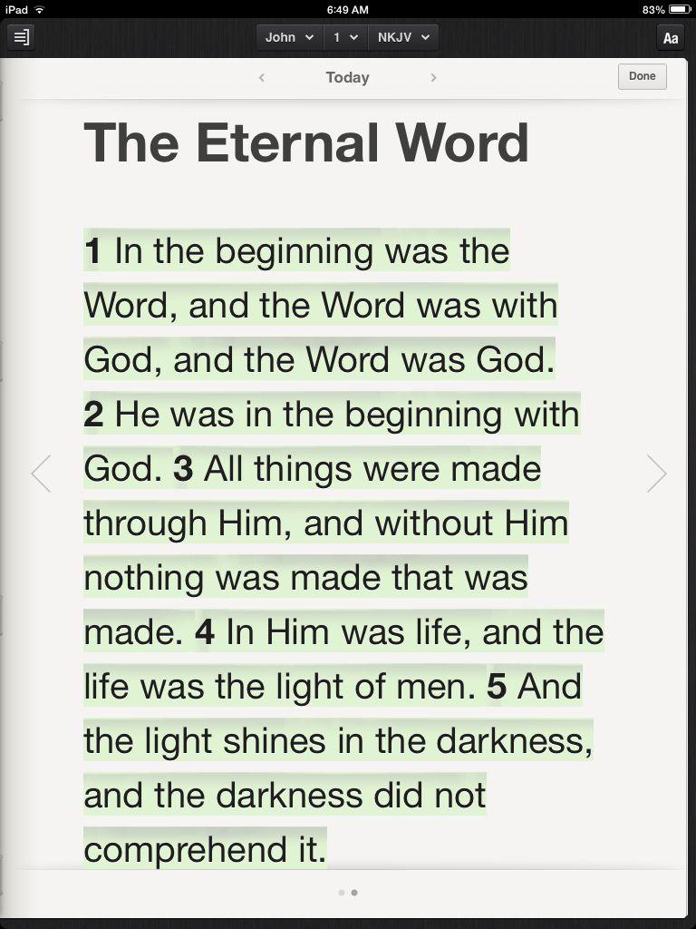 The Word became flesh    (John 1:1-5 NKJV) | John, the