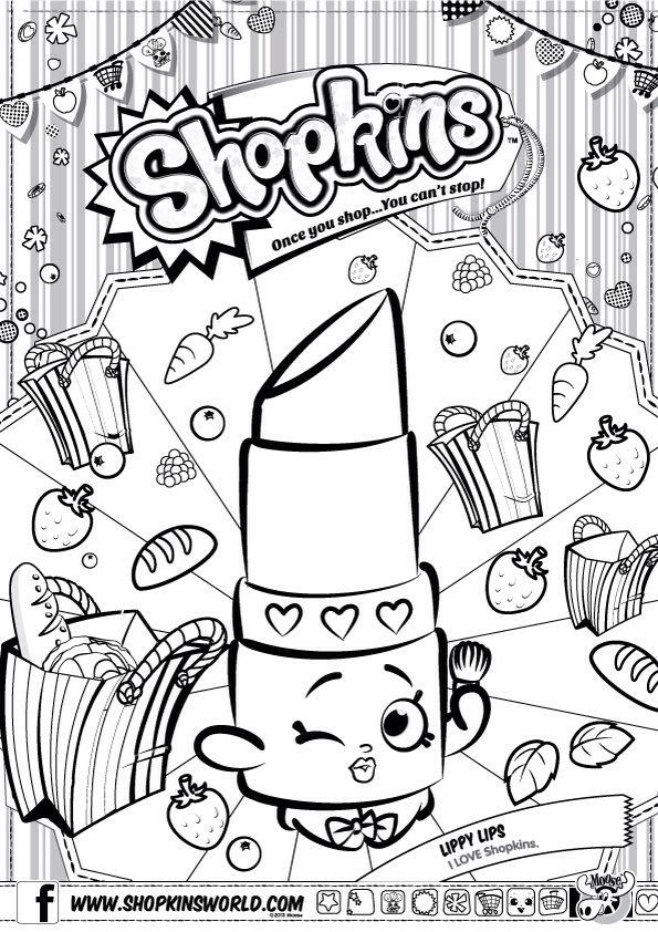 Shopkins Colour Color Page Lippy Lips Shopkinsworld Shopkins
