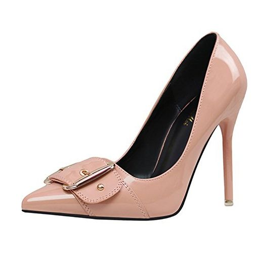 6b62e1540f21dd Azbro Women s Pointed Toe Buckle Stiletto Heels Pumps