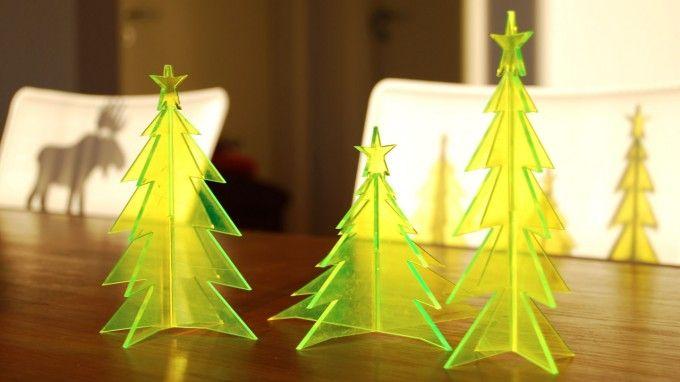 Parametric christmas tree from laser cut acrylic lasercut