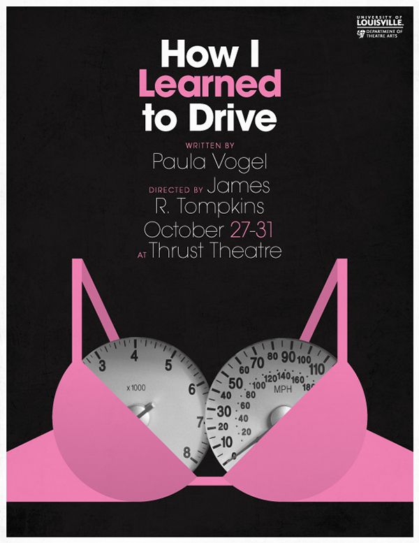 How I Learned To Drive Design By Brett Thurman Play Poster Poster Series Theatre Poster