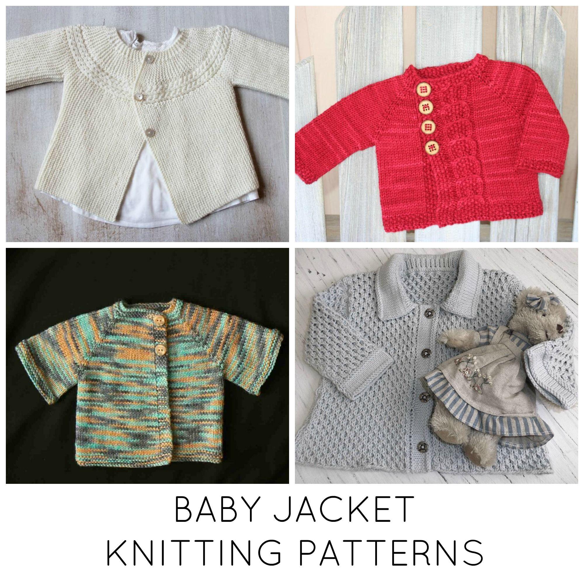 10 Baby Jacket Knitting Patterns You\'ll Love   Knit patterns, Baby ...