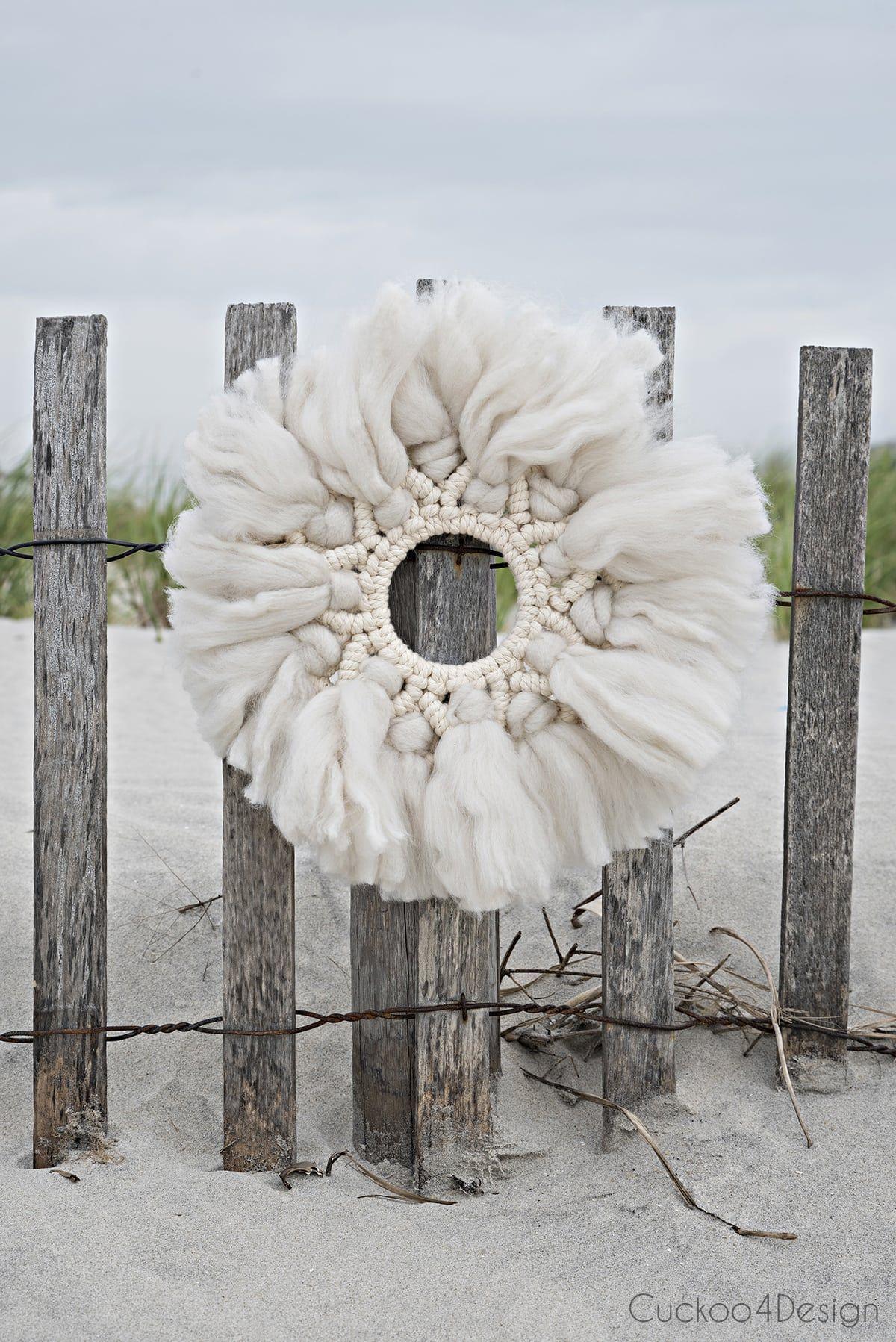 Photo of Wool and yarn macrame wreath tutorial | Cuckoo4Design