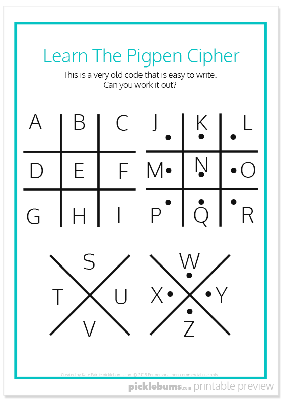 Cool Secret Codes For Kids - Free Printables   Coding for