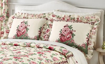 Floral English Rose Garden Pillow Sham Bedroom