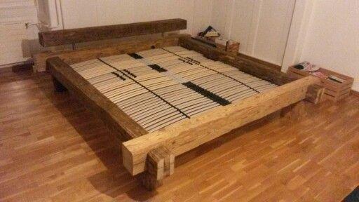 Cadre de lit en vieilles poutres | decoracion de interiores ...