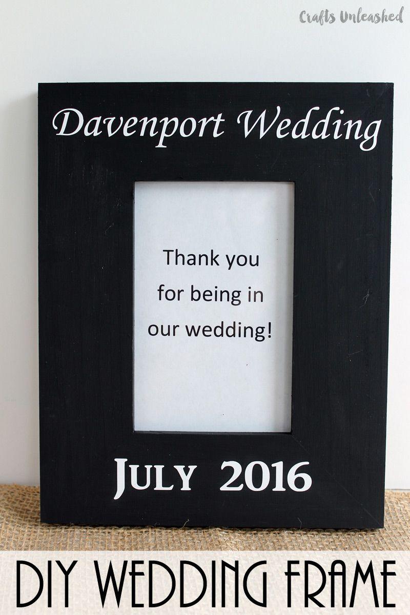 DIY Wedding Frame Gift Idea: Step by Step - Consumer Crafts | DIY ...