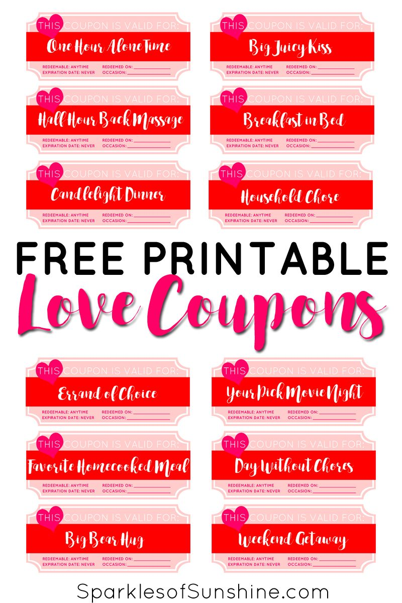 free printable love coupons for him