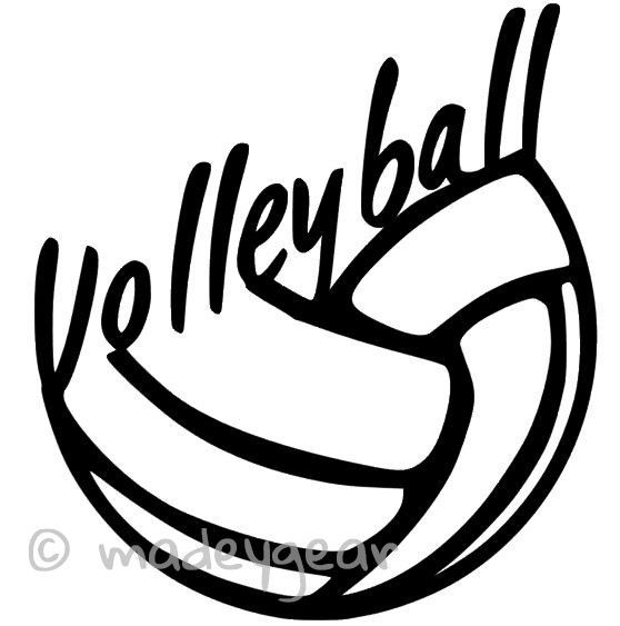 Car Window Vinyl Decal Sticker Sports Volleyball Play - Car window decal stickers sports