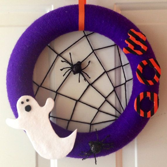 Super Fun Halloween Wreath made by Funky Fresh Crafts and available on Etsy now!