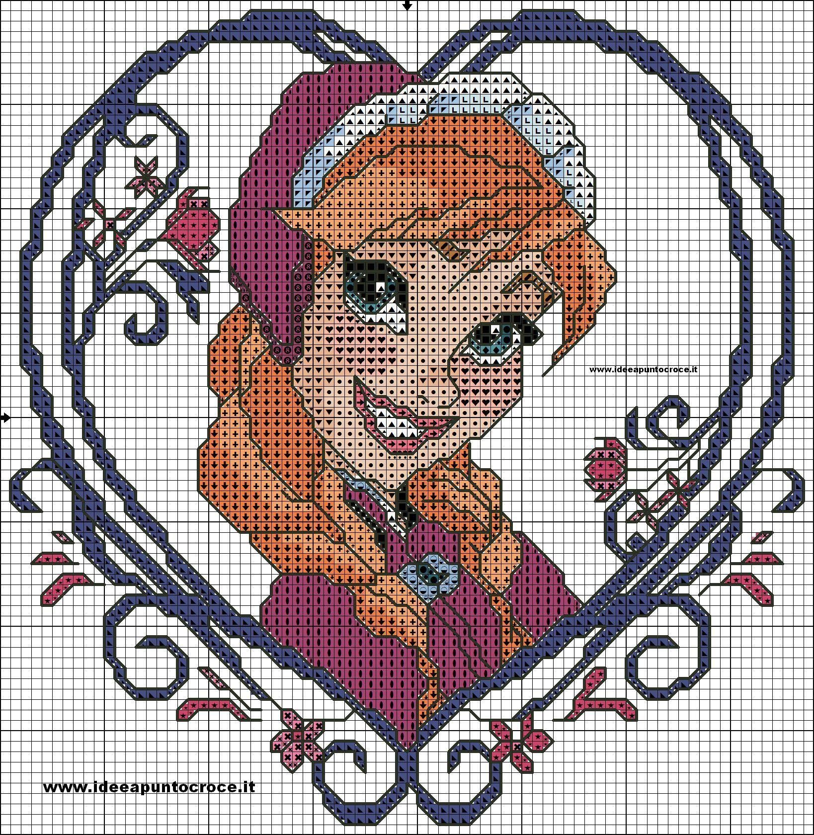 schema anna frozen | Disney | Pinterest | Kreuzstich, Eiskönigin und ...