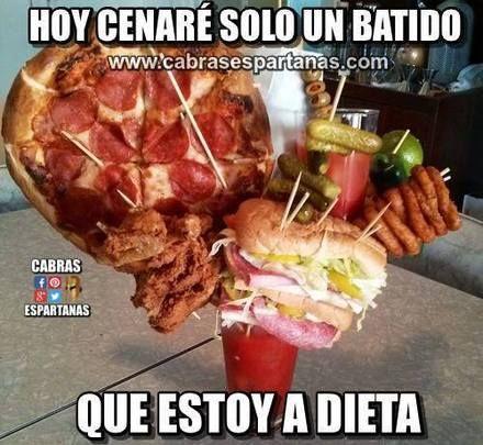 Estoy A Dieta Mejor Algo Ligero Memes Pinterest Memes Humor