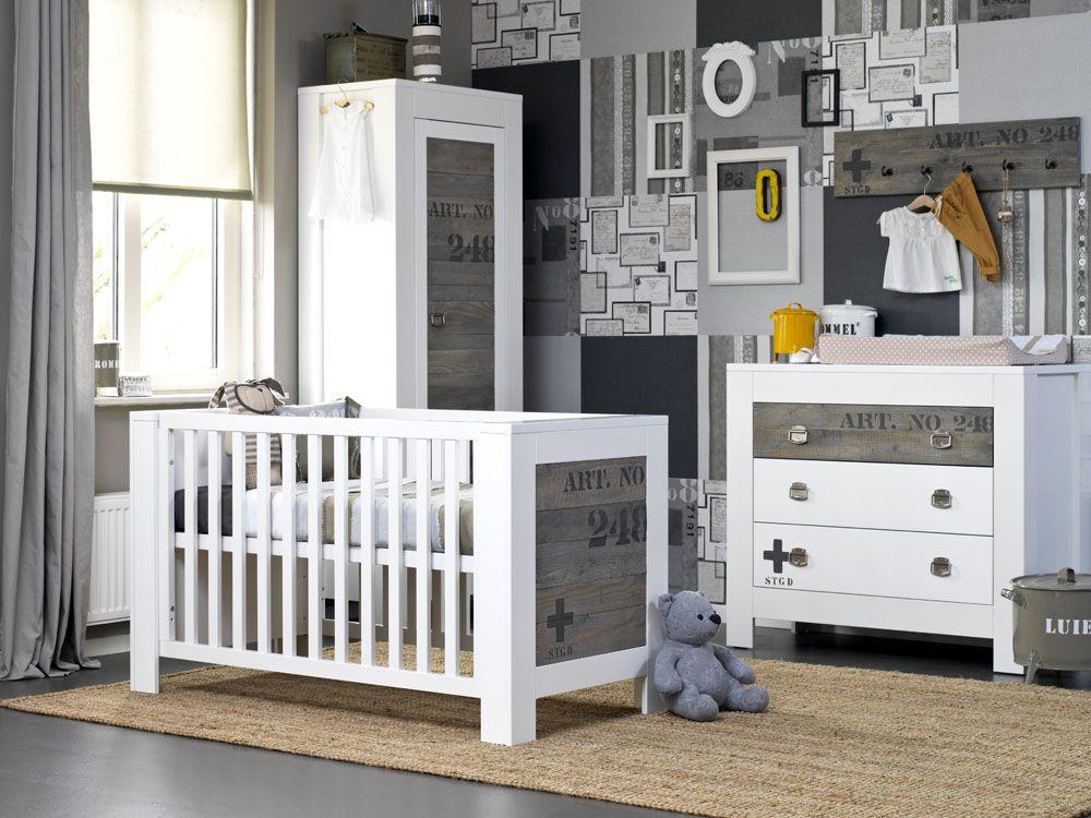 stapelgoed babykamer urban, met een stoere uitstraling. wit, Deco ideeën