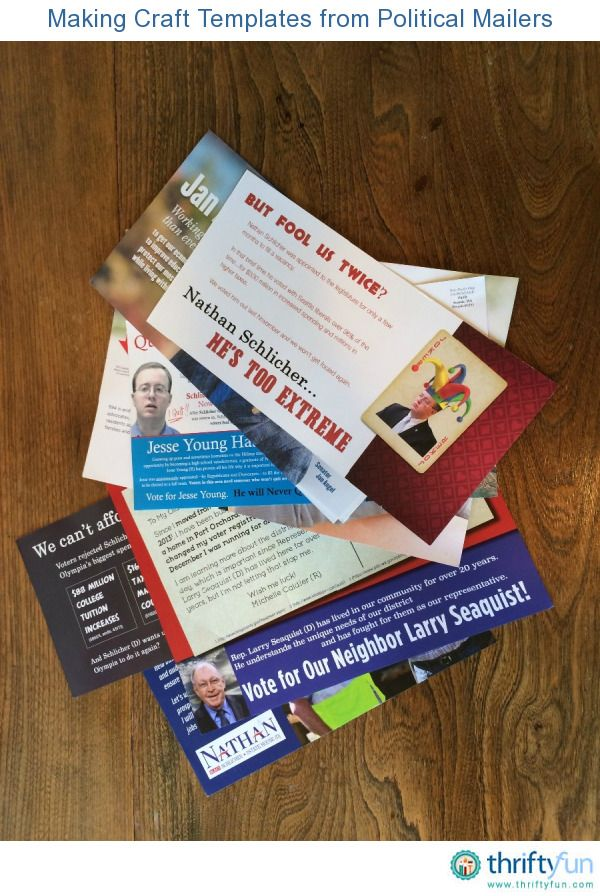 This is the time of year when I am inundated with political mailings. So the ballot is in the mail and now I have all of this junk mail to recycle. I decided to use some of it to make circular templates.