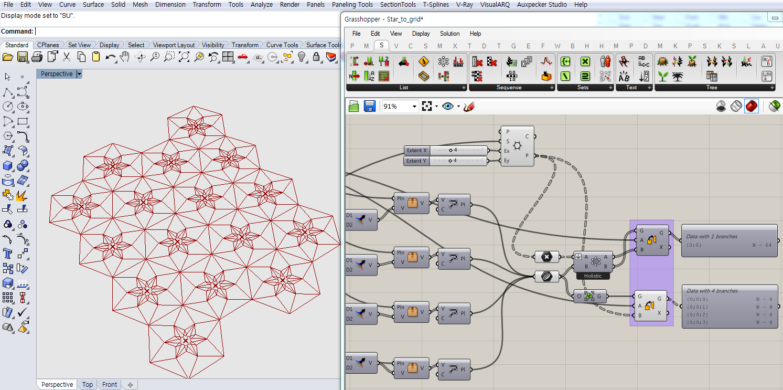 How Generate My Star Shape On A Hexagonal Grid Grasshopper Rhino Parametric Design Rhino Tutorial