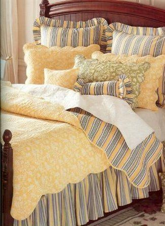 Yellow Toile Quilt And Bedding Discount Home Bedding Decor In