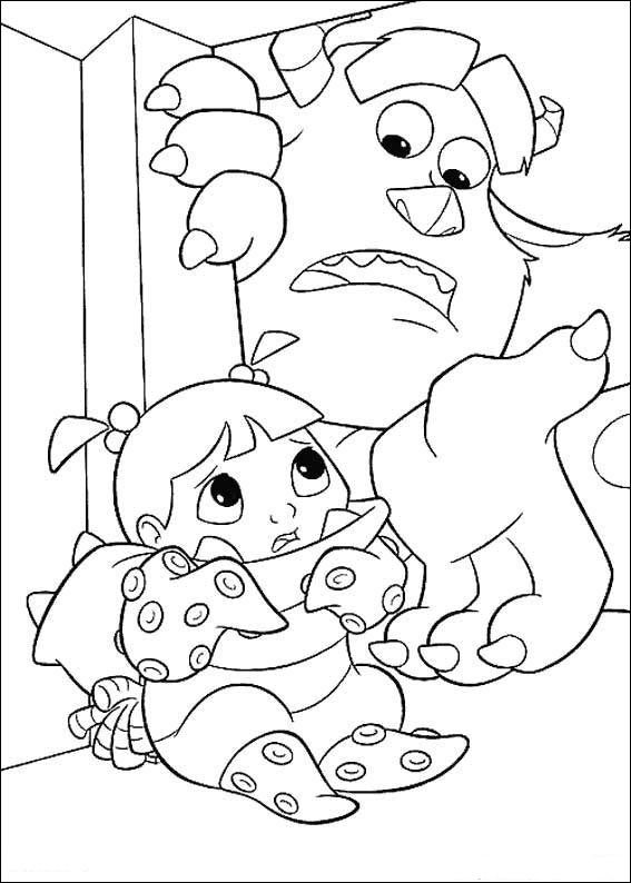 Tegninger til Farvelægning Monsters Inc. - University 52 | színező ...