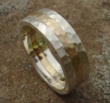 Mens Silver And Gold Wedding Ring 9ct Gold Wedding Ring Silver Wedding Bands Gold Wedding Rings