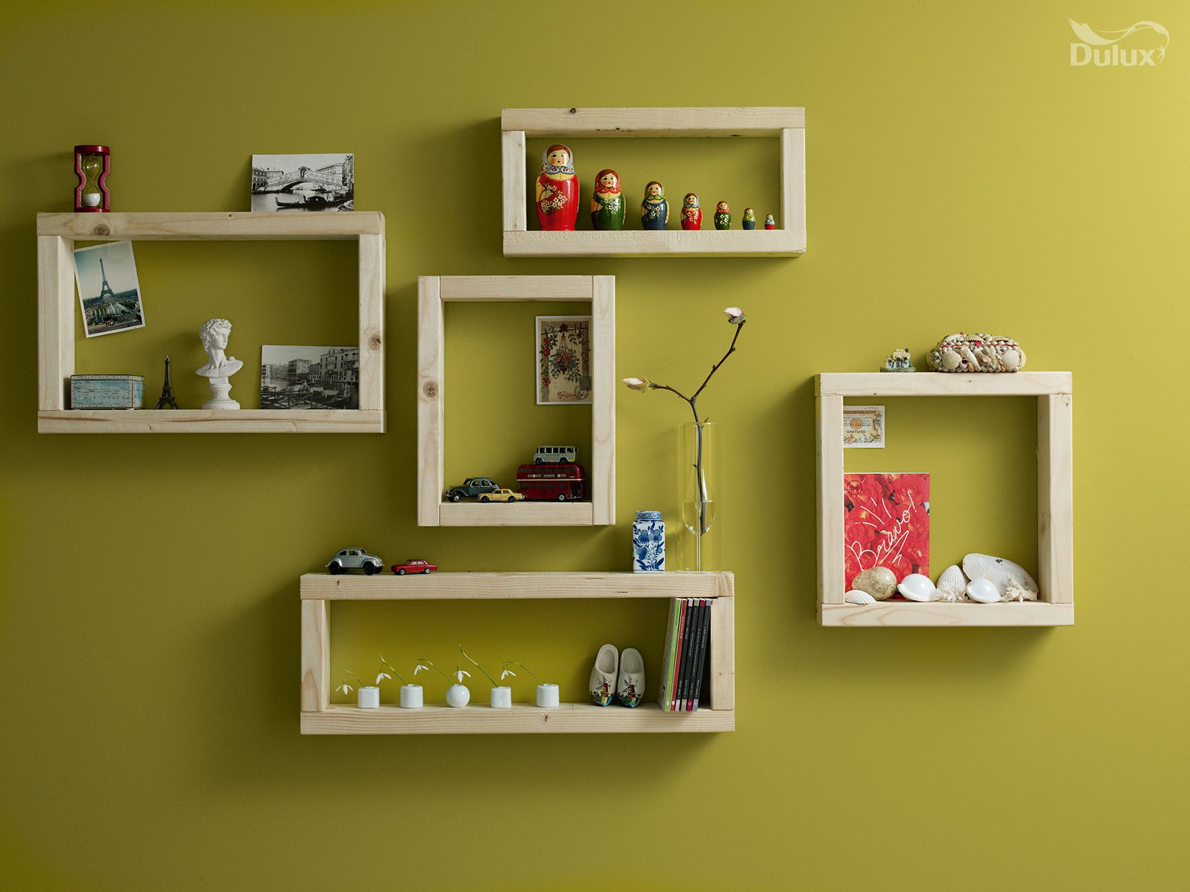 Displaying trinkets you\'ve collected is a great way to bring your ...