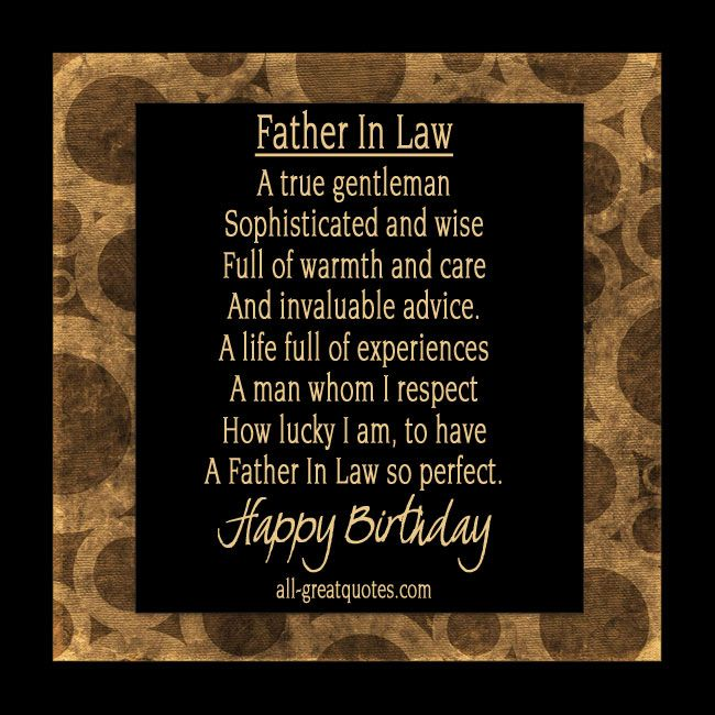 Happy Birthday Father In Law Birthdaycards