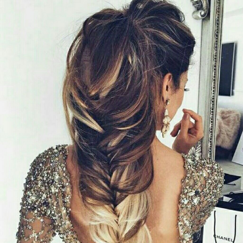 3 4 Blonde Ombre One Piece Clip In Extension Long Hair Styles Hair Styles Elegant Wedding Hair