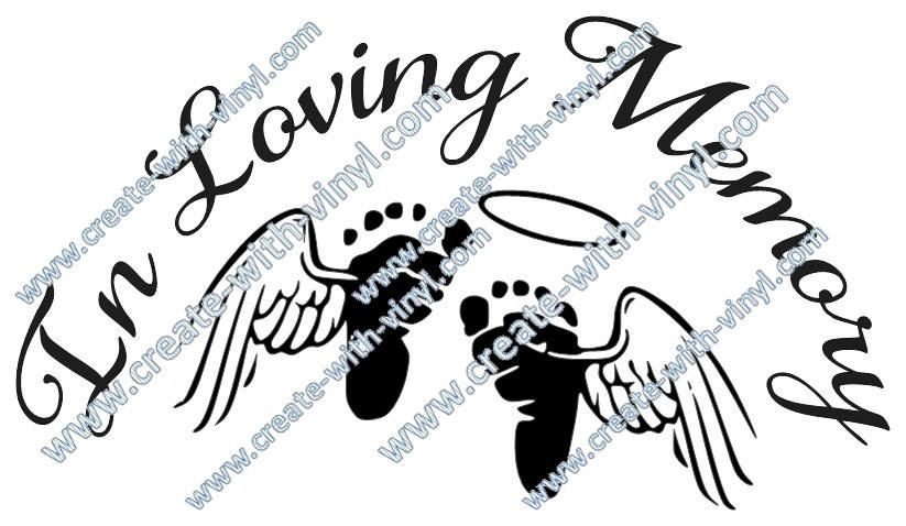 BABY In Memory of SVG file - Cameo, Cricut, Embroidery svg files