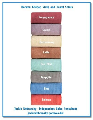 Kitchen Cloth Towel Colors Norwex Chemical Free Cleaning Towel Colors