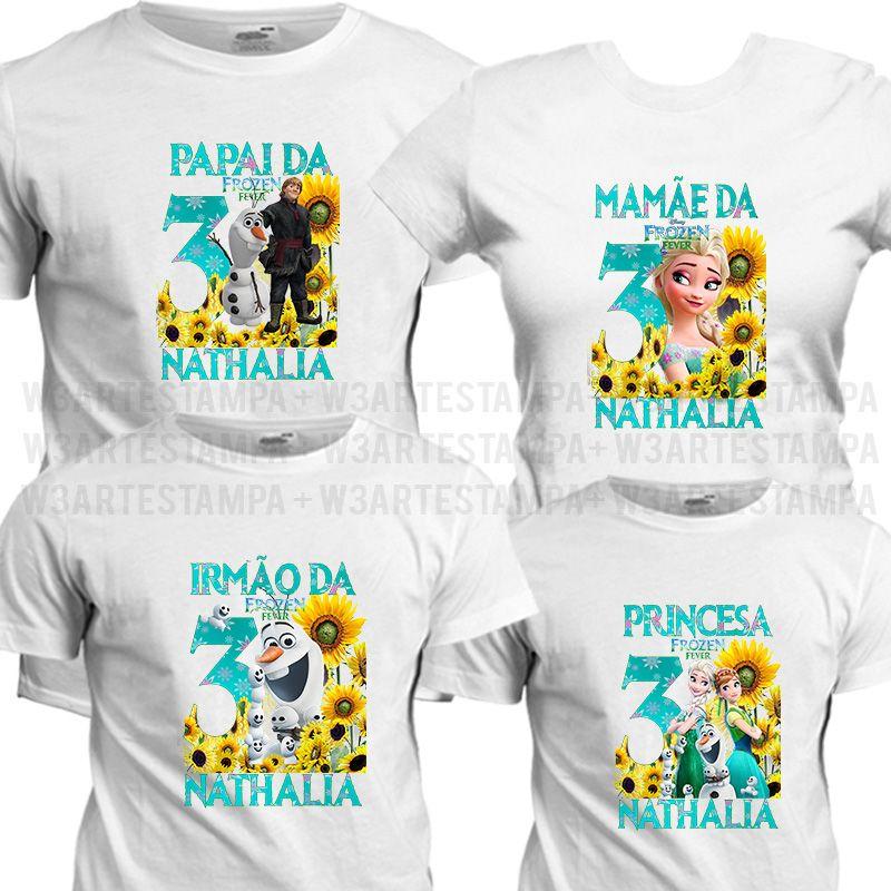 02a6117895 Camisetas Personalizadas Tema Frozen Fever