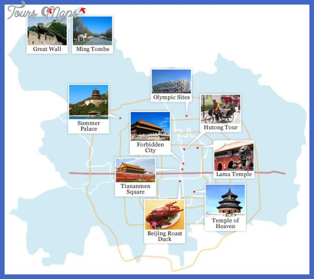 Cool Beijing Map Tourist Attractions Tours Maps In 2019 China