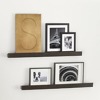 Archetype 36 Brown Photo Ledges Set Of Two Crate And Barrel Decor Home Decor
