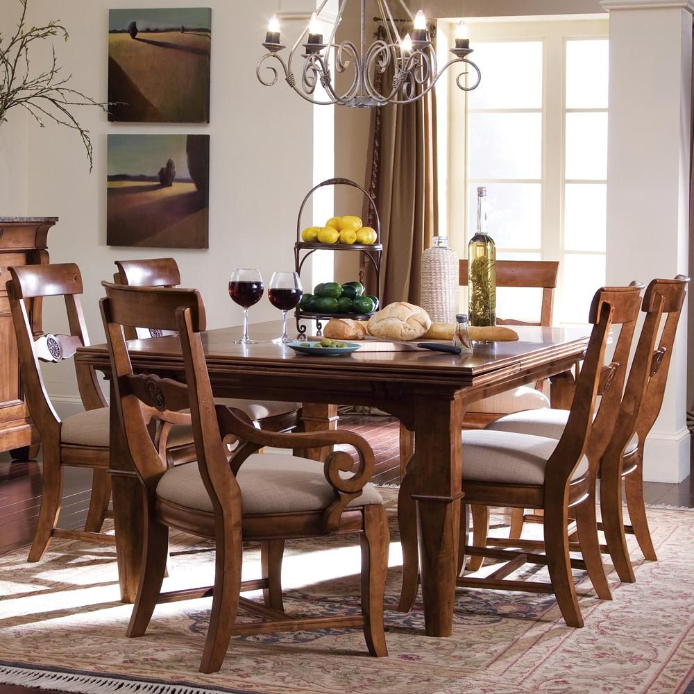 Tuscano 10 Pc Refectory Leg Table  Rustic dining room table