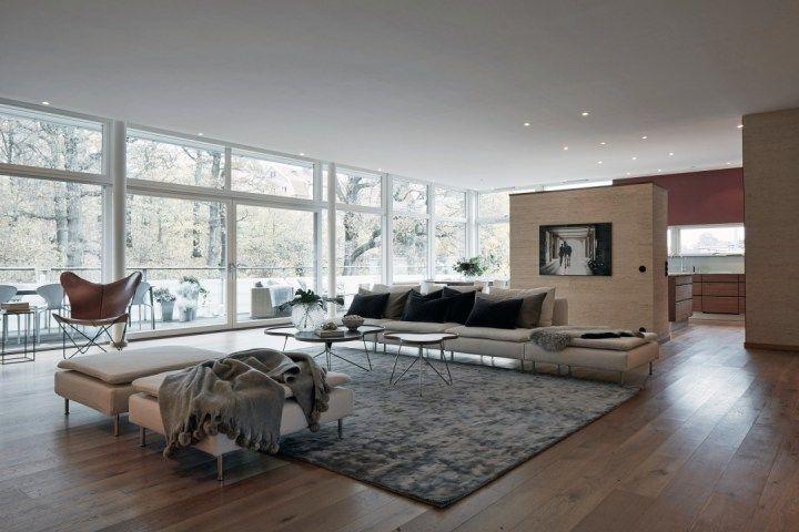 piso sueco con saln de m