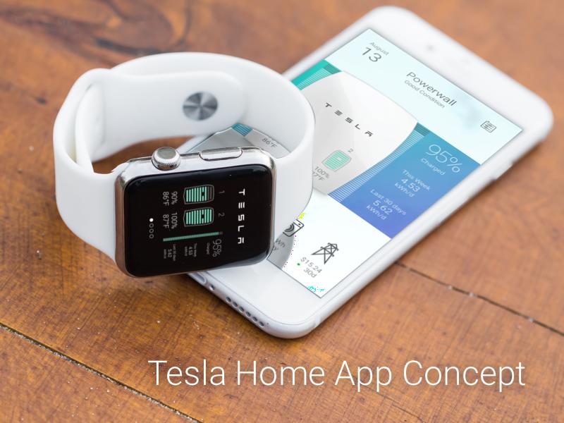 Tesla Home Concept Concept, Apple watch