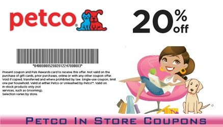 Petco In Store Coupons Petco Store Coupons Coupons