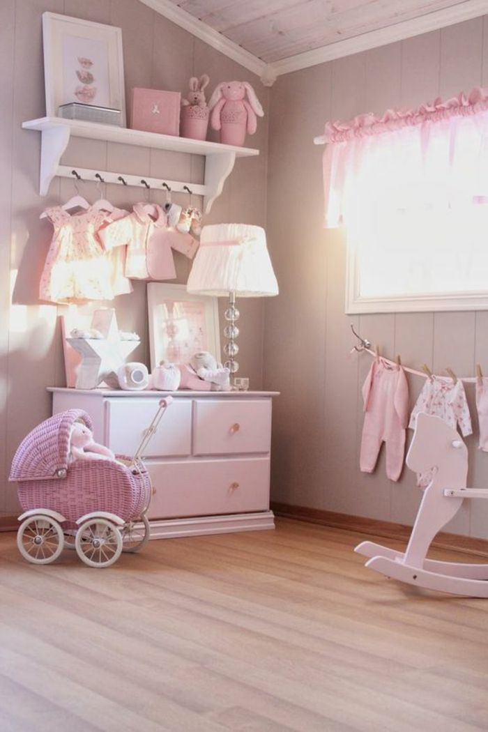 babyzimmer dekoration rosa farbe lampe kinderzimmer spielzeuge ... | {Babyzimmer dekoration 40}