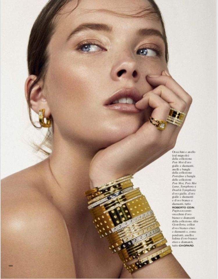 Photo of Fine Jewelry editorial: Mildred Gustafsson captured by Mario Gomez for Vanity Fa…
