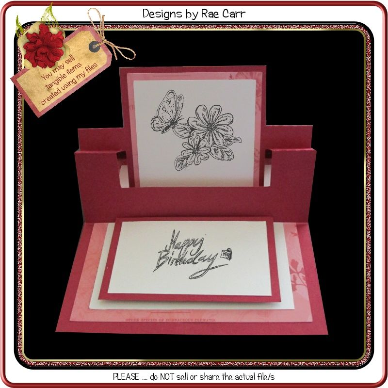 953 Unique Swing Easel Card Easel Cards Card Templates Cards