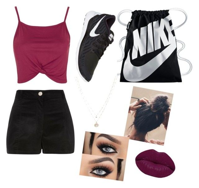 Very hot day outfit by ashley-ochoa-martinez on Polyvore featuring polyvore, fashion, style, Topshop, NIKE, LC Lauren Conrad, Winky Lux and clothing