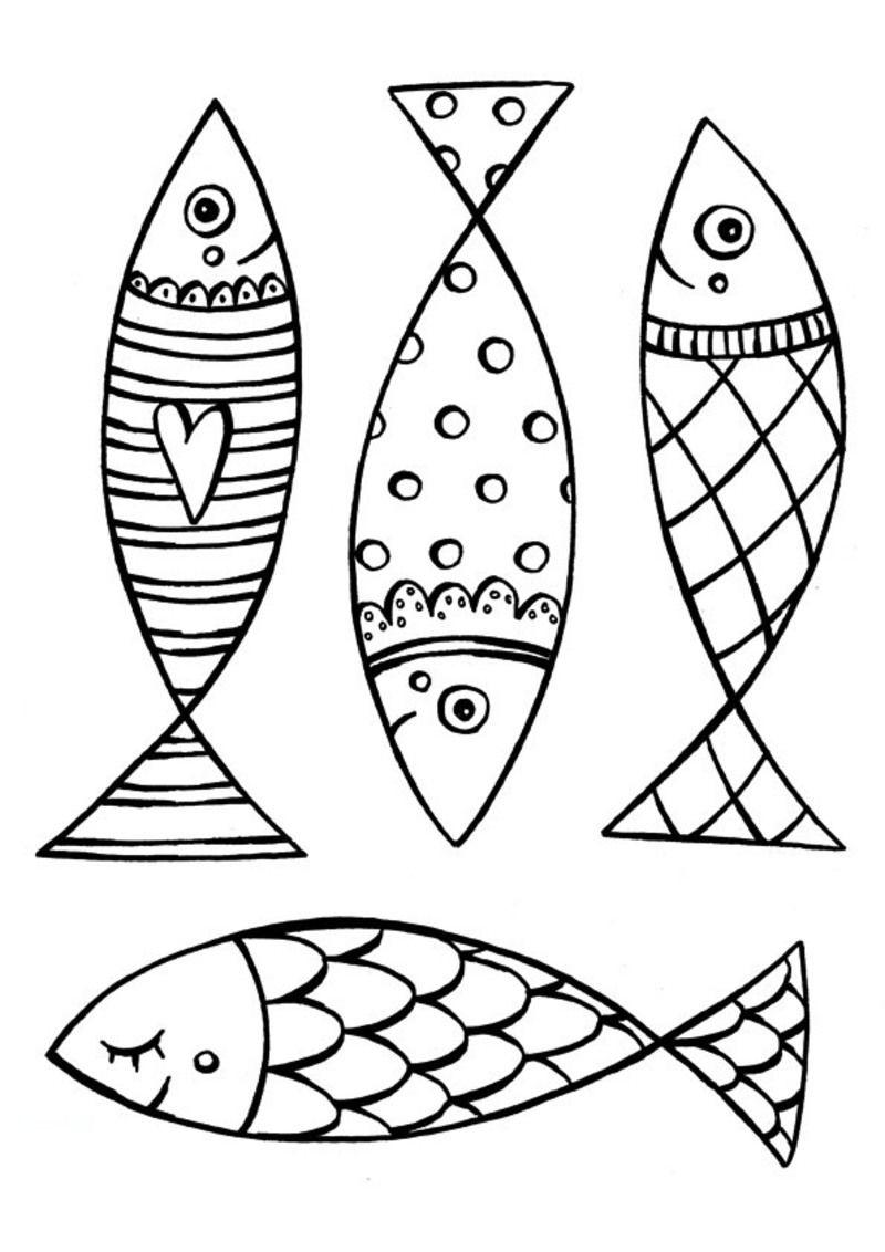 R sultat de recherche d 39 images pour sardines dessin appliqu s pinterest coloriage - Poisson avril maternelle ...