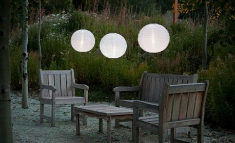 The soji illume solar lantern is a large solar lantern sure to bring a classy vibe to any outdoor space
