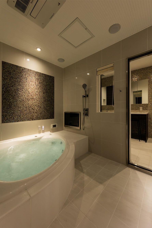 ラグジュアリー浴室 京都リノベーション 浴室 おしゃれ 浴室
