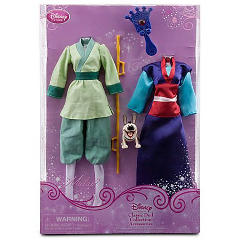 Mulan Classic Doll Collection Accessory Set 5 Pc