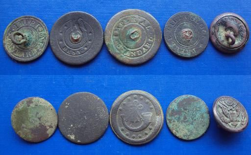 Assorted 1800 S Flat Buttons Dug In Farm Field Metal Detecting Finds Metal Detecting Metal Detector